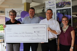 Verani Realty agents present Hope for NH Recovery with $750