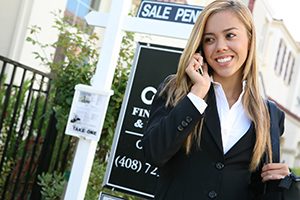 real estate agent on phone