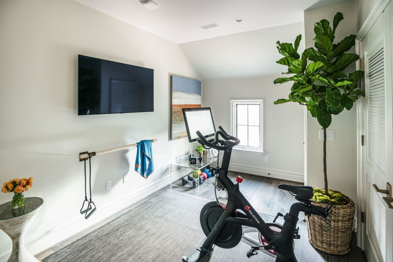 Home gym in a St. Louis luxury home