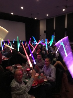 Verani agents wave lightsabers