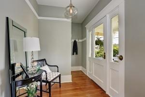 Gray entryway