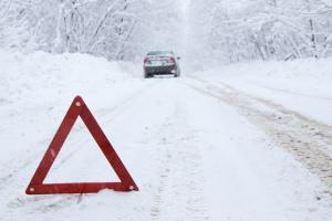 hazard markers in snow