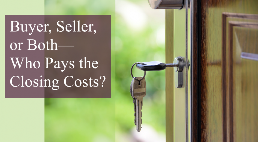 house keys in door after title company closing costs paid possession