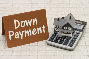 calculator with down payment sign