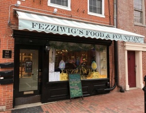 Front of Fezziwig's Food and Fountain