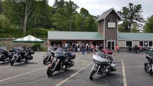 motorcyles in front of Belmont office